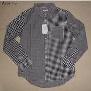 インド綿シャツ生地 ギンガムチェッククレイジーシャツ 3mm×5mm(A,Bパターン有り)