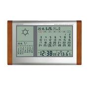 (インテリア・バラエティ雑貨)(温湿度計/ウェザー)カレンダー天気電波時計 TB-834