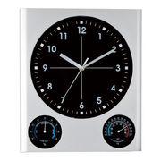 (インテリア・バラエティ雑貨)(温湿度計/ウェザー)BIG掛時計(温湿度計付) SW-226