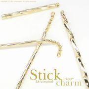 "★L&A original parts★美しきK16GP&本ロジウム★スティックチャーム♪173 ""Gold Stick"""