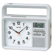 SEIKO セイコー 目覚まし時計 防災クロック アナログ 手回し充電 ラジオ KR885N