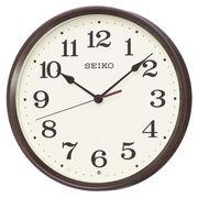 SEIKO セイコー 掛け時計 電波 アナログ 茶メタリック KX223B