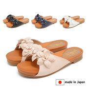 日本製/made in japan フラワーサンダル