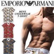 ★SALE★EMPORIO ARMANI エンポリオアルマーニ メンズ マリン柄 総柄 Tシャツ<ラスト6点>