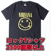 ロックTシャツ Nirvana ニルヴァーナ ニコちゃん イエローパターン