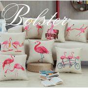 BLHW153729◆5000以上【送料無料】◆フラミンゴ柄 抱き枕カバー クッションカバー ヌードセアテ