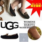 【激安!】【BLACK限定】UGG アグ 撥水加工 ムートン スリッポン モカシン<DAKOTA>