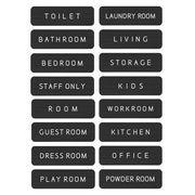 ドアプレート メタルプレート ドアサイン Aluminum Door Sign-Black トイレ オフィス 部屋 表札