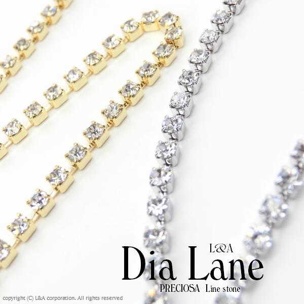 ★L&A original chain★最高級鍍金★プレシオサ★ダイヤレーン★連爪★切り売り★