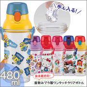 食洗機対応直飲みプラ製ワンタッチクリアボトル 480ml PSB5TR