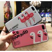 アイフォンケース iPhone 7/8背面カバー フラミンゴ柄 iphoneX ケース 耐衝撃