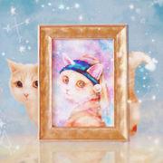 クリアファイル ねこ「月の耳飾りのネコ」