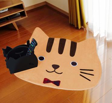 ルームマット(茶トラ猫)【 ほっこりめいとシリーズ 】
