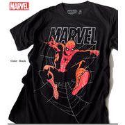 ★注目度抜群!!★大人気アメコミ「MARVEL(マーベル)」のスパイダーマンをプリントしたクールなTシャツ★