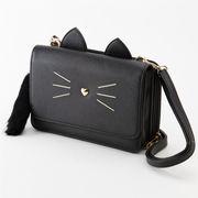 ショルダーバッグ (キャット)【バッグ 猫 ねこ CAT レディース ショルダー お財布 ポシェット】
