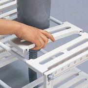 【自由に棚を作り整理可能!】シンク下フリーラック 伸縮タイプ