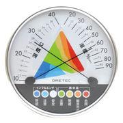 (サマーナウ)(熱中症対策の日)熱中症・インフルエンザ警告温湿度計 O-311WT