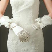 花嫁 ウェディングドレス 手袋 ブライダルドレスグローブボウグローブ