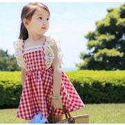 夏 子供服 キッズ 女の子 ワンピース ファッション チェック レース
