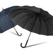 [65cm]16本骨傘 紳士 メンズ 和風 ストライプ柄