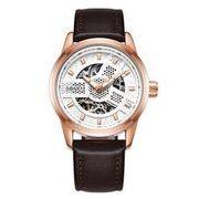 送料無料 OB メンズ スケルトン ビジネス 自動巻き 腕時計 ob-5