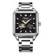 送料無料 OB メンズ スケルトン ビジネス 自動巻き 腕時計 ob-14