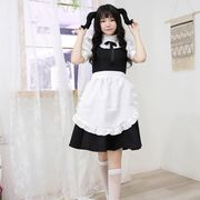 【即日出荷】黒色 アイドル風 メイド服  コスプレ衣装 【7813】