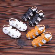 夏 新しいデザイン 児童 サンダル レザー ソフトボトム パッケージ ヘッド 赤ちゃん