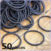 【卸売り】50本 ヘアゴム ブラック 太さ3.5mm