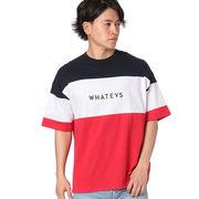 【2018春夏新作】20/-OE天竺 半袖 切替 BIG-Tシャツ(WHATEVS)