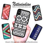 耐衝撃 iPhone ケース iPhone8ケース スマホケース ネイティブ オルテガ エスニック 西海岸 ブランド