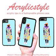 iPhone 7 8 X ケース 柄 女の子 ファッション シンプル