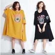 【春夏新作】ファッション/人気ワンピース♪ブラック/イエロー2色展開◆
