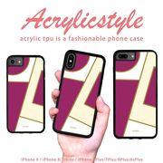 iPhone 7 8 X ケース 幾何学 大人 女子 紫 モダン