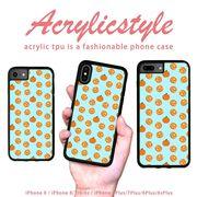 iPhone 7 8 X ケース フルーツ オレンジ みかん ミカン かわいい
