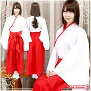 1152F★MB■送料無料■トキメキ巫女さんパラダイス 色:赤/白 サイズ:M/BIG