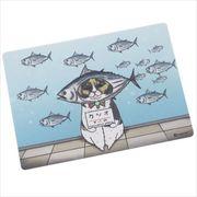 《コレクション》世にも不思議な猫世界 クロス素材ステッカー/親びん 鰹 KORIRI
