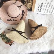 ★2018春夏★レディース 麦わら帽 リボン UVカット 帽子 ハット 夏 プール 紫外線対策