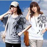 【即納】ドルマンプリントTシャツ v-jb081-9128  メール便可 2020春夏新作