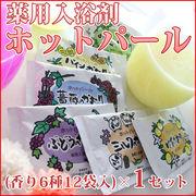 (78594)薬用入浴剤ホットパール(香り6種・12袋入り)×1セット【全国送料無料・日時指定不可】