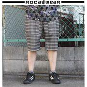 2018 春★ROCAWEAR★ロカウェア メンズ ネル グレンチェック ショーツ
