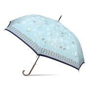 [60cm]耐風傘 婦人 傘 ジャンプ傘 レディース ミントフォレスト柄
