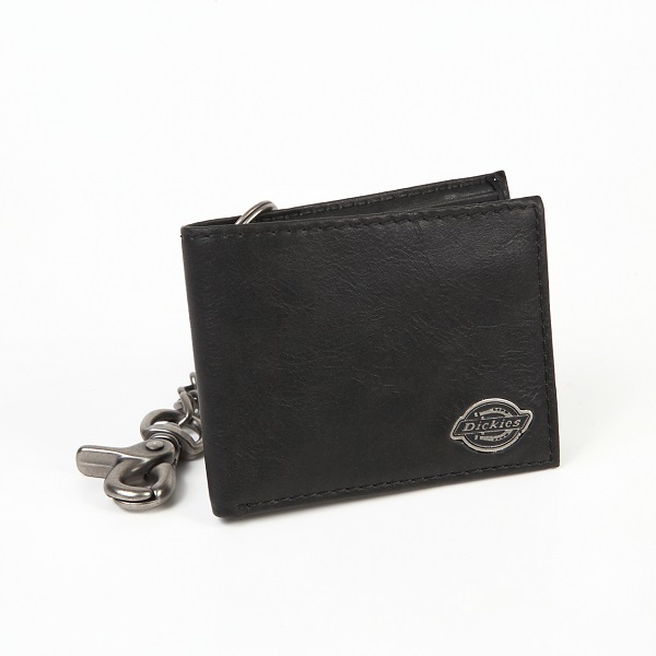 Dickies ディッキーズ メタル製チェーン付き 牛革二つ折りスリム財布 USA直輸入モデル 31DI1304