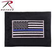ROTHCO ロスコ ツイン・ブルーライン・フラッグ 刺繍入り コマンドー 軽量 ナイロン財布 USA 直輸入