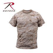 ROTHCO ロスコ 迷彩柄 半袖 Tシャツ デザート・カモフラージュ柄 USA アメリカ直輸入 ミリタリーTシャツ