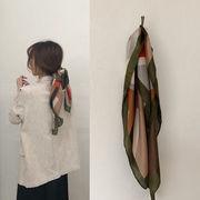 ストール 多色 韓国 編み柄 人造シルク シンプル 通勤 ファッション おしゃれ