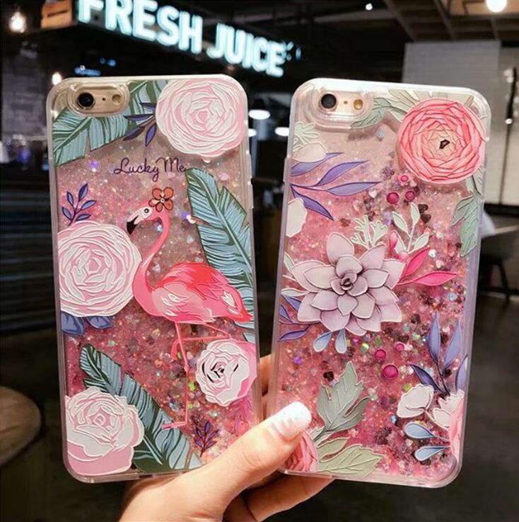 iPhoneX iPhone8用保護ケース 花柄携帯ケース スマホケース 流れる