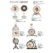 お好みの形をお選びください!クラシックローズ置時計