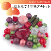 ビーズ アソート パック022【採れたて!完熟プチトマト】モダンビーズ/パーツ/ハンドメイド