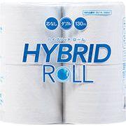 【送料無料/4倍長持ちで芯ゴミなし!】トイレットペーパー32ロール  ハイブリッドロールダブル  130m